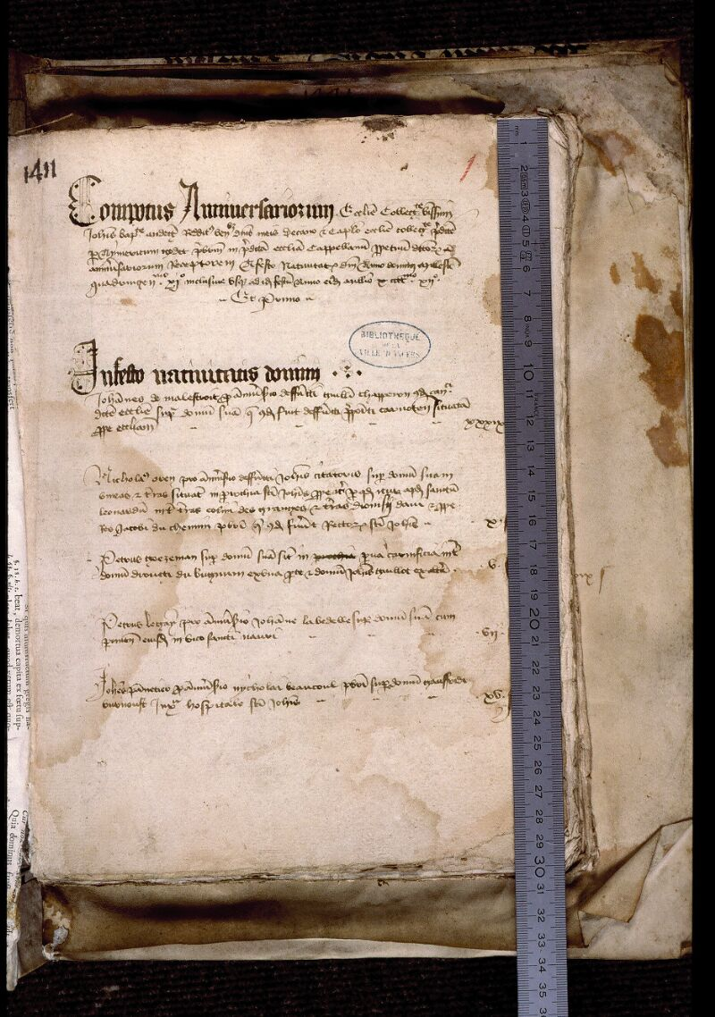 Angers, Bibl. mun., ms. 0749, f. 001 - vue 1