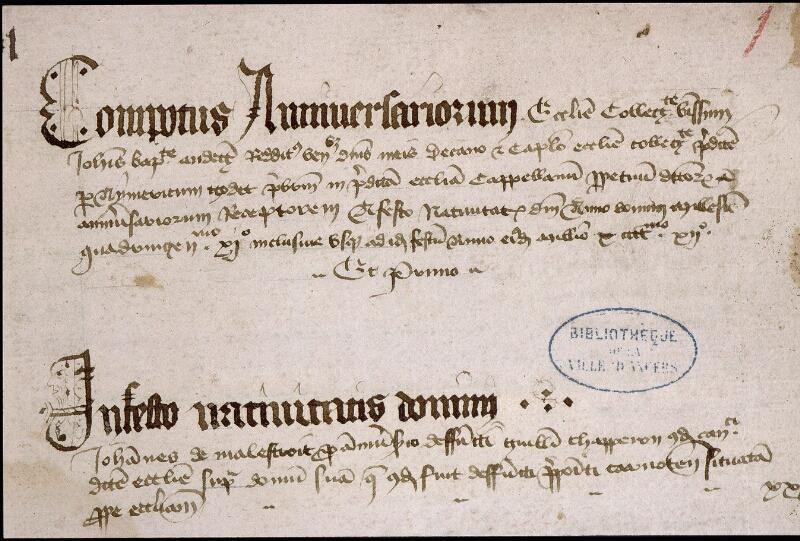 Angers, Bibl. mun., ms. 0749, f. 001 - vue 3