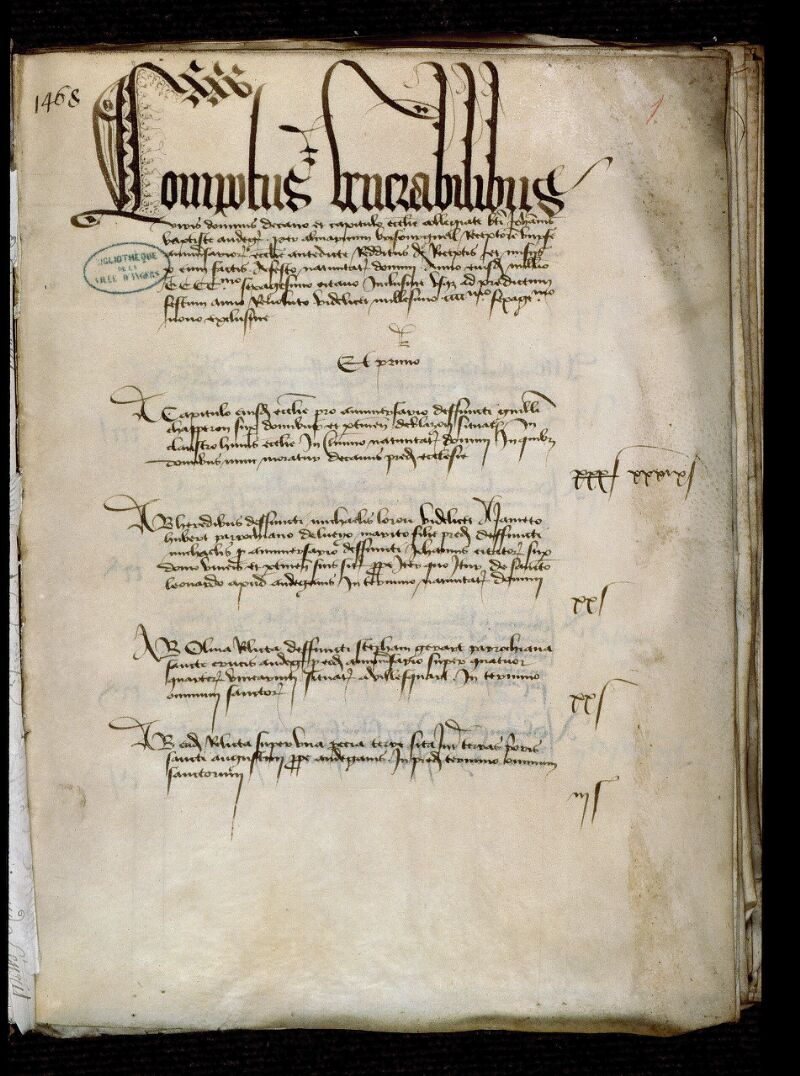 Angers, Bibl. mun., ms. 0750, f. 001 - vue 2