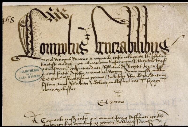 Angers, Bibl. mun., ms. 0750, f. 001 - vue 3