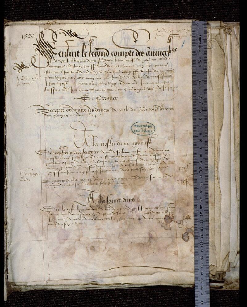 Angers, Bibl. mun., ms. 0751, f. 001 - vue 1