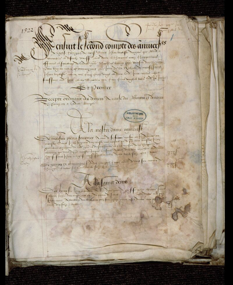 Angers, Bibl. mun., ms. 0751, f. 001 - vue 2