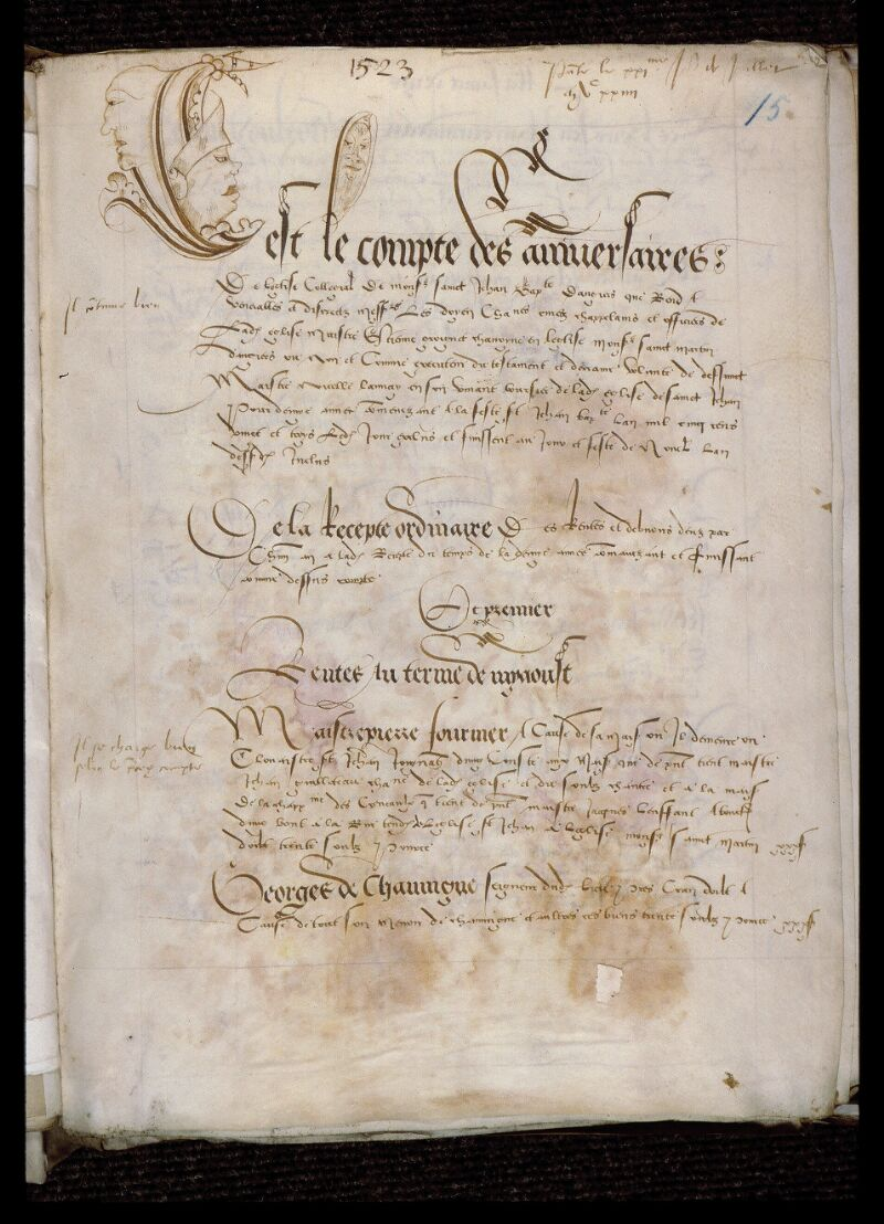 Angers, Bibl. mun., ms. 0751, f. 015 - vue 1