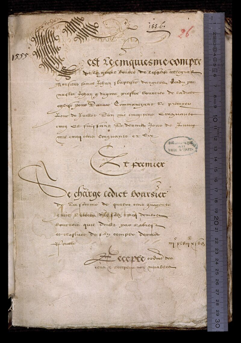Angers, Bibl. mun., ms. 0752, f. 026 - vue 1