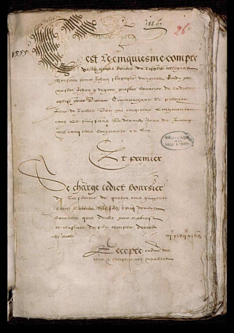 Angers, Bibl. mun., ms. 0752, f. 026 - vue 2