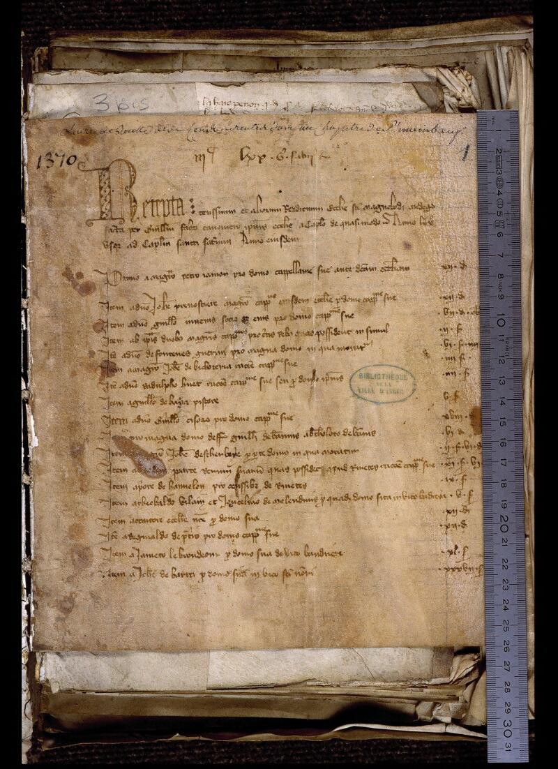 Angers, Bibl. mun., ms. 0769, f. 001 - vue 1