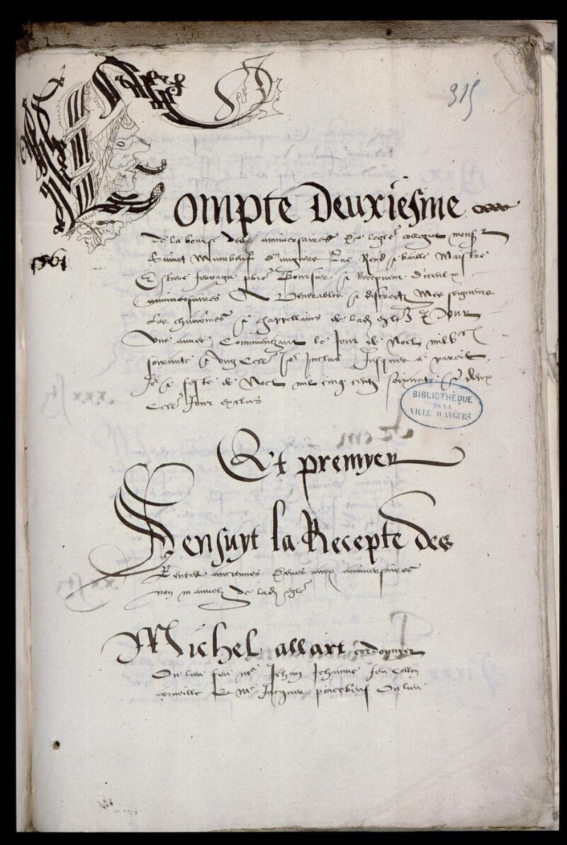 Angers, Bibl. mun., ms. 0769, f. 315 - vue 1