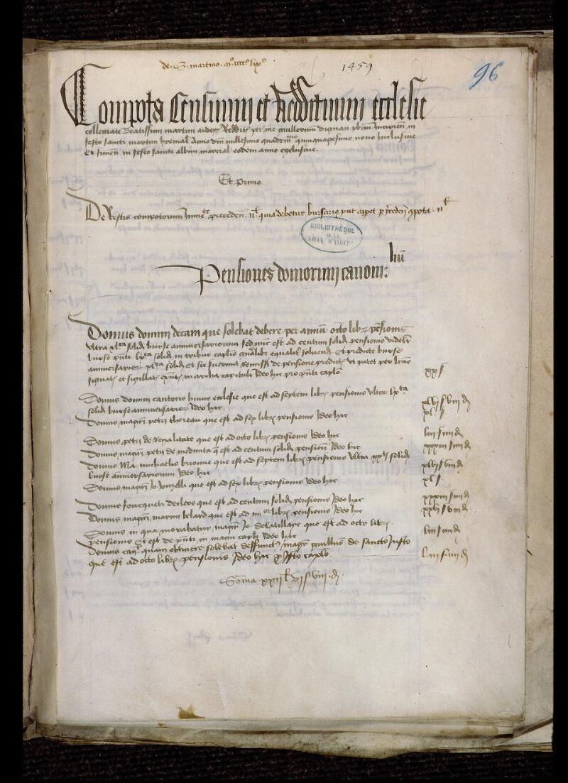 Angers, Bibl. mun., ms. 0770, f. 096 - vue 2