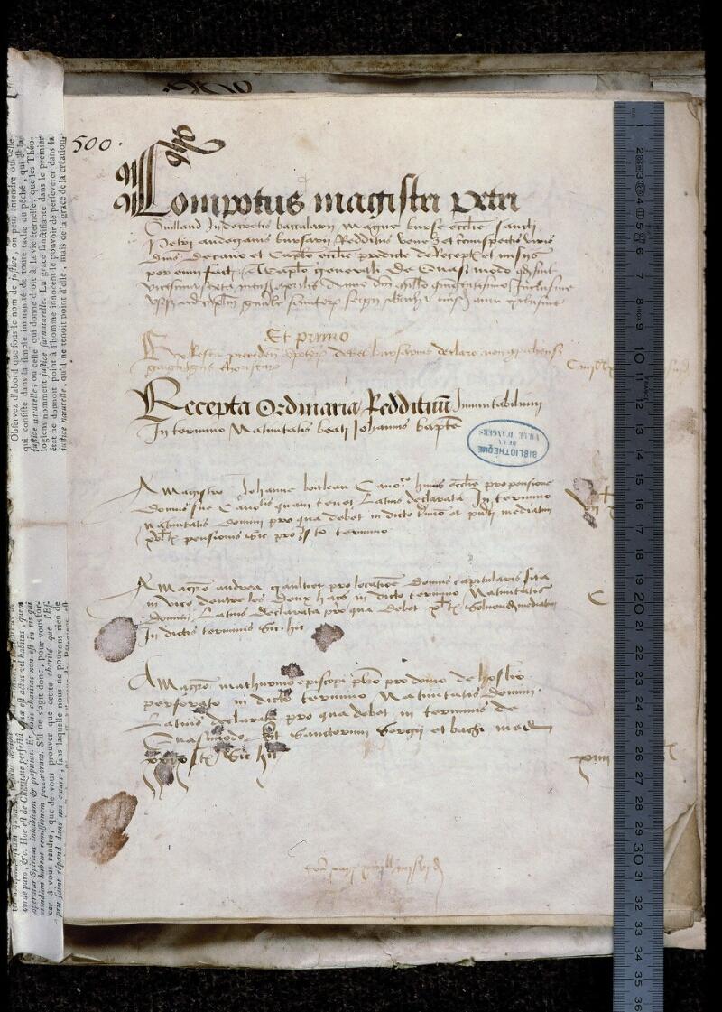 Angers, Bibl. mun., ms. 0773, f. 001 - vue 1