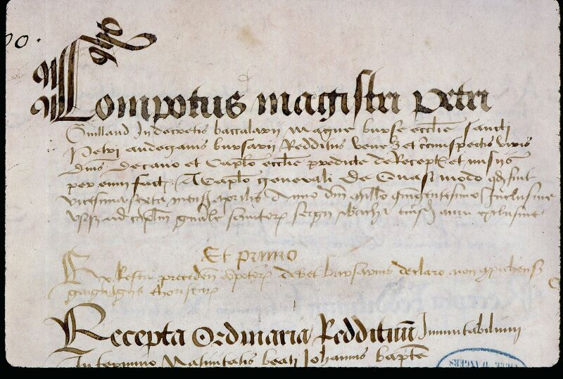 Angers, Bibl. mun., ms. 0773, f. 001 - vue 3