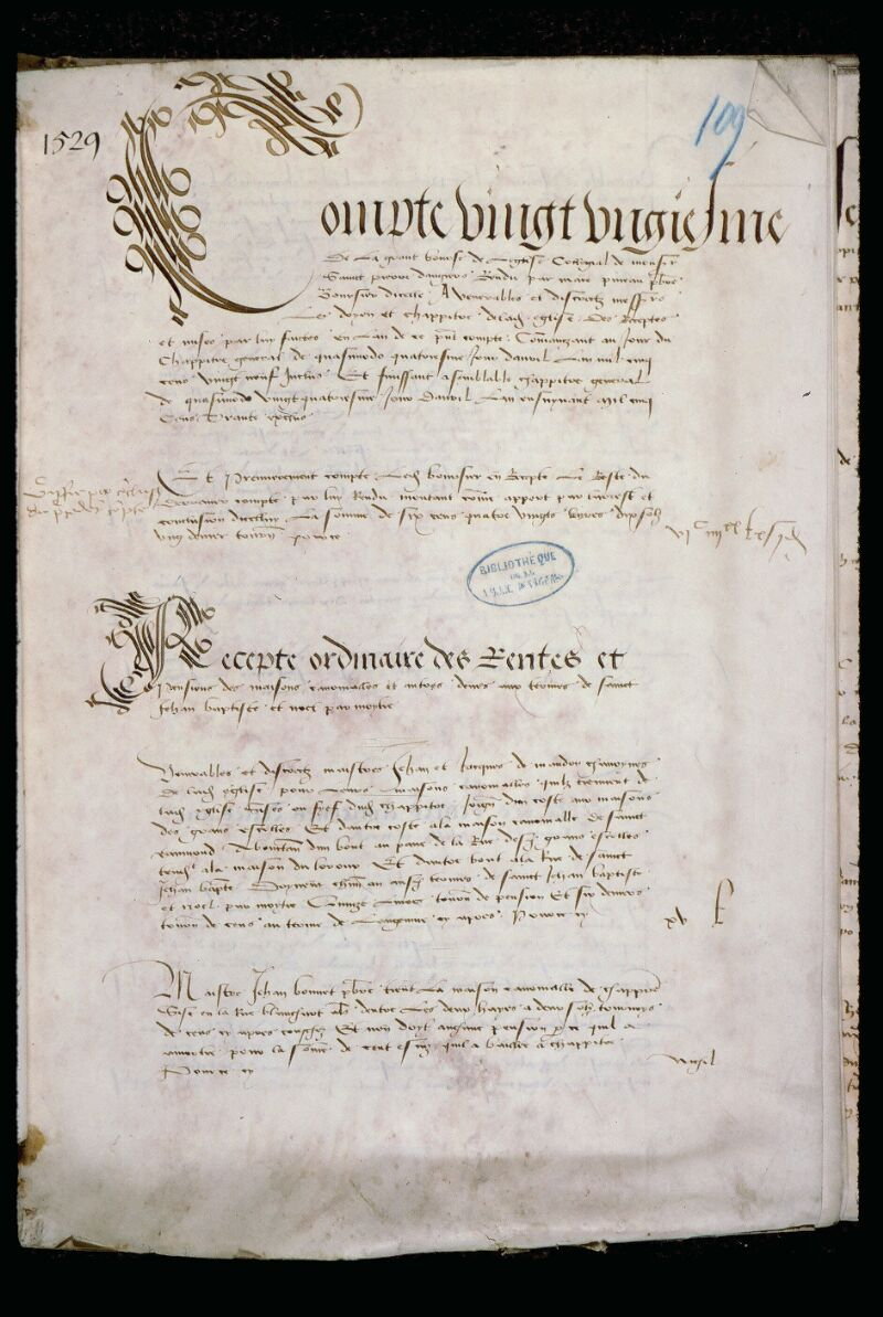 Angers, Bibl. mun., ms. 0773, f. 109 - vue 2