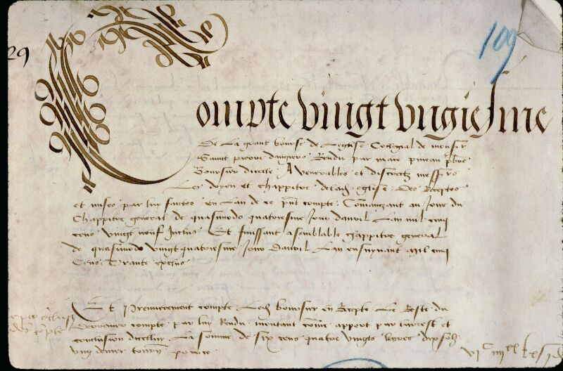 Angers, Bibl. mun., ms. 0773, f. 109 - vue 3