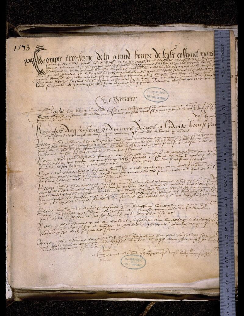 Angers, Bibl. mun., ms. 0774, f. 001 - vue 1