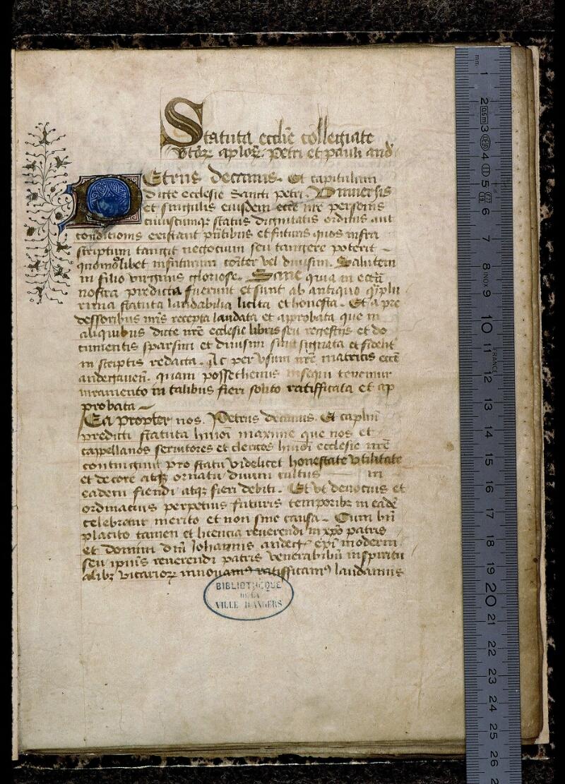 Angers, Bibl. mun., ms. 0777, f. 001 - vue 1