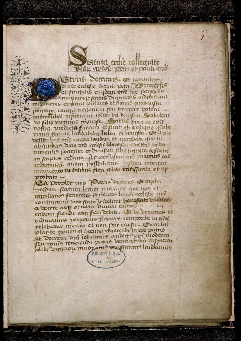 Angers, Bibl. mun., ms. 0777, f. 001 - vue 2