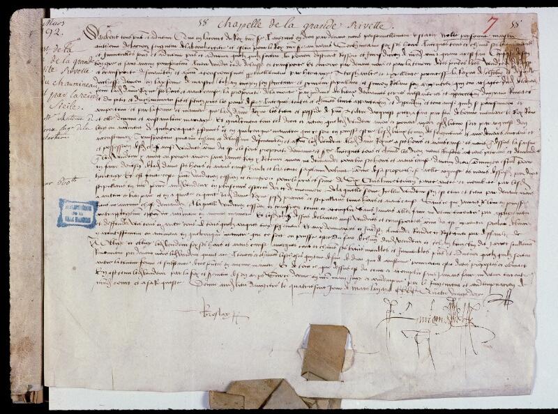 Angers, Bibl. mun., ms. 0794, f. 007 - vue 2