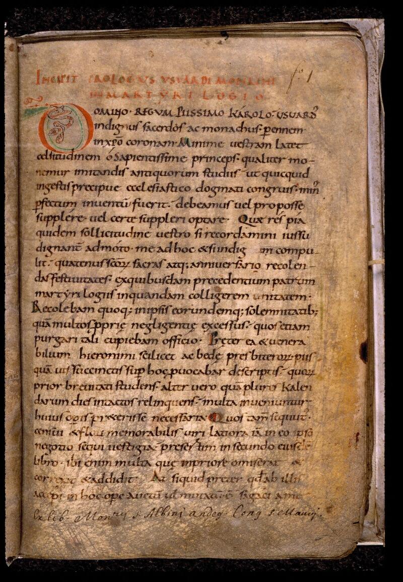 Angers, Bibl. mun., ms. 0798, f. 001 - vue 2