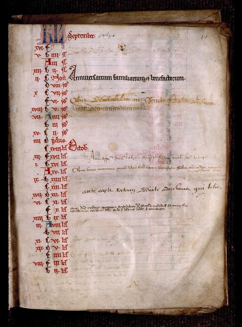 Angers, Bibl. mun., ms. 0799, f. 000IV - vue 2