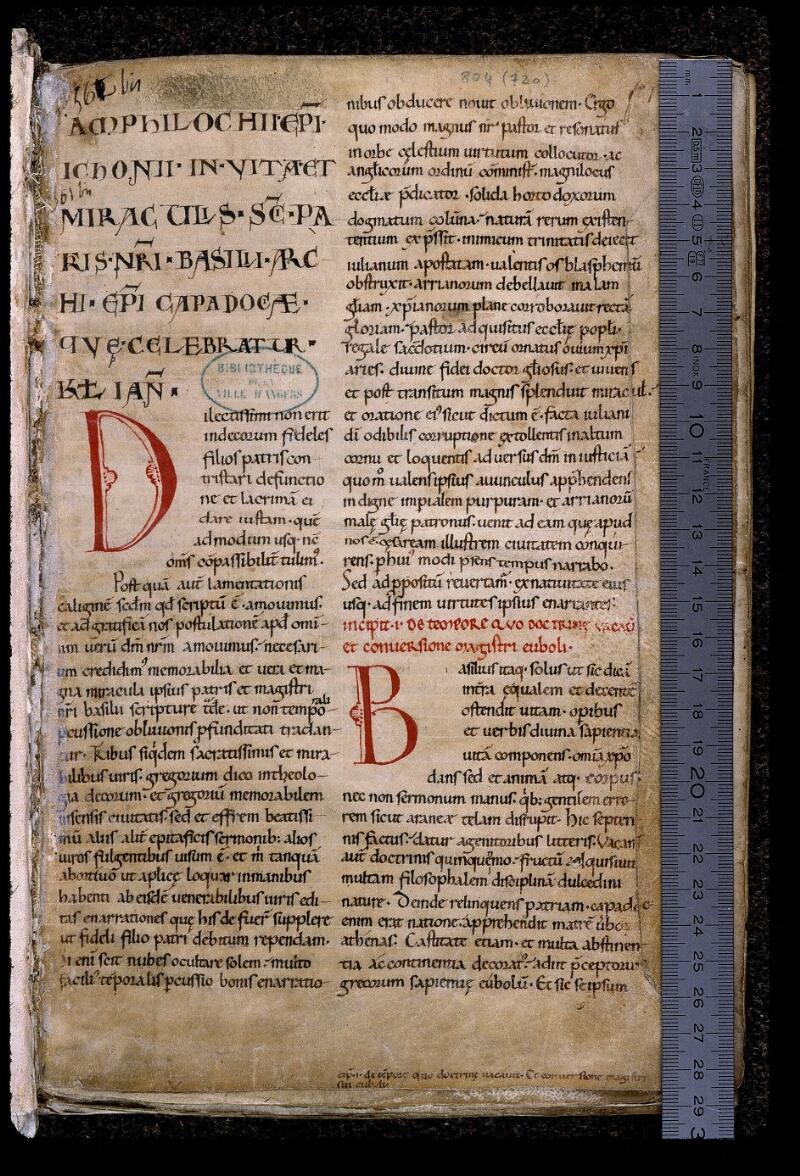 Angers, Bibl. mun., ms. 0804, f. 001 - vue 1