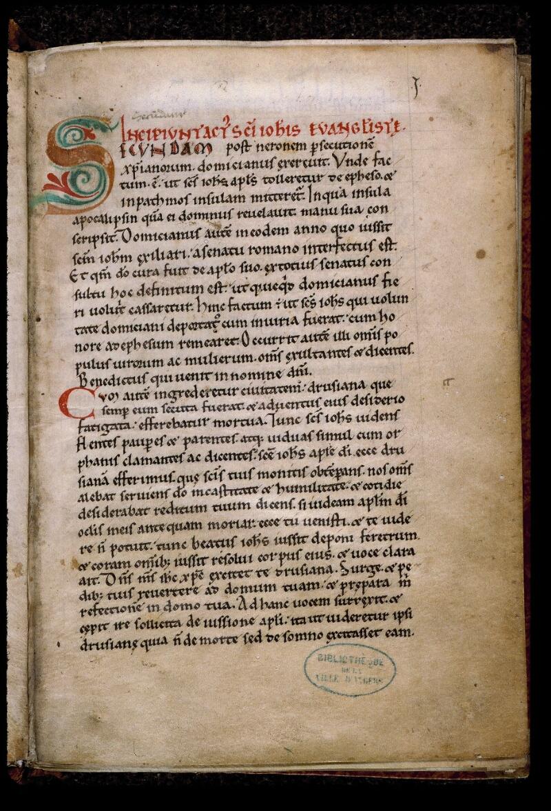 Angers, Bibl. mun., ms. 0805, f. 001 - vue 2