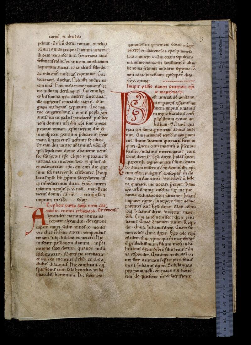 Angers, Bibl. mun., ms. 0806, f. 003 - vue 1