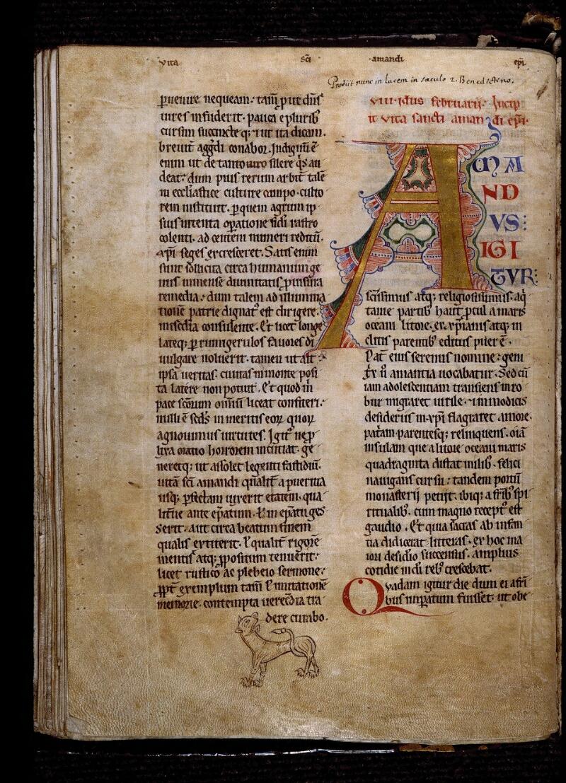 Angers, Bibl. mun., ms. 0807, f. 050v - vue 1