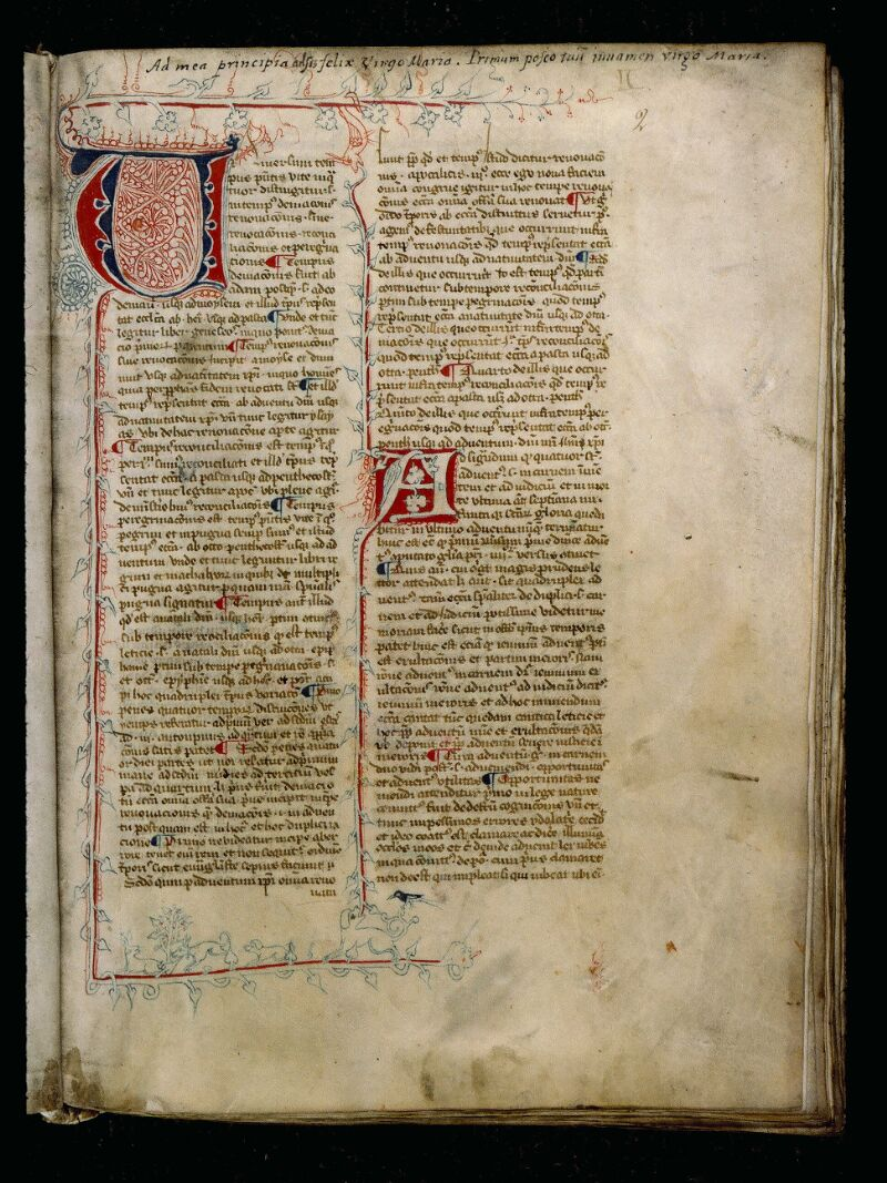Angers, Bibl. mun., ms. 0808, f. 002 - vue 1