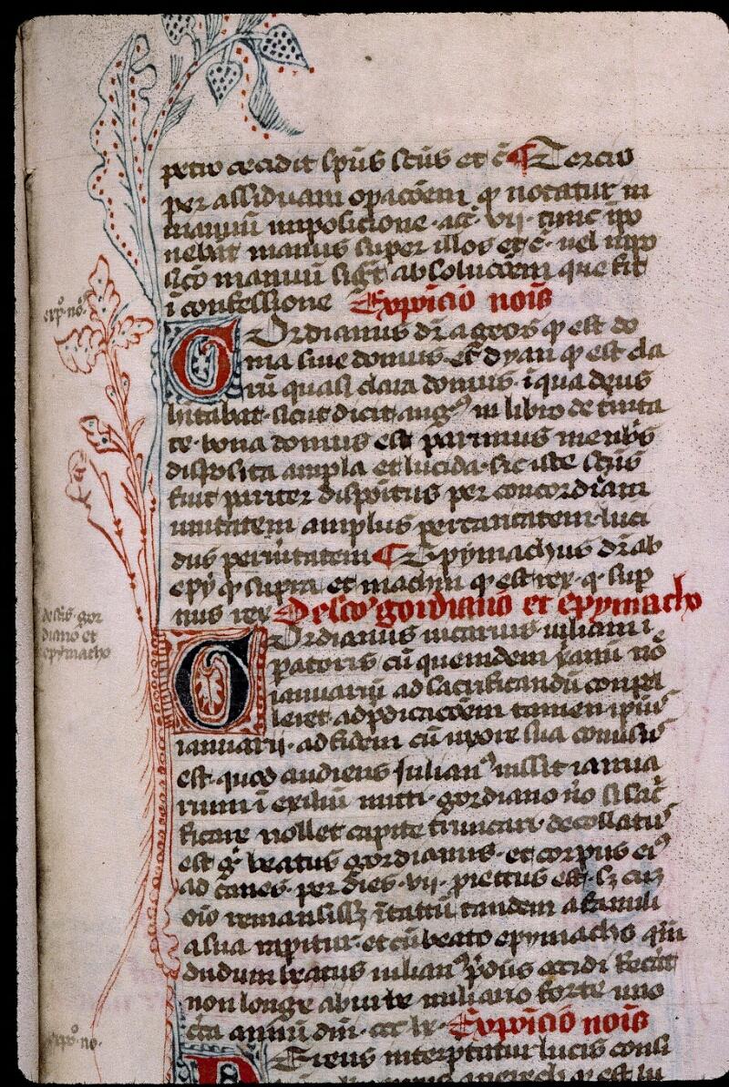 Angers, Bibl. mun., ms. 0808, f. 075 - vue 1