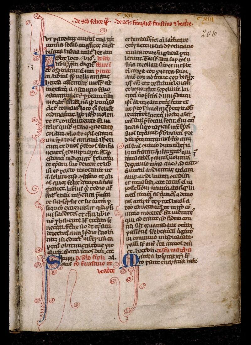 Angers, Bibl. mun., ms. 0809, f. 206