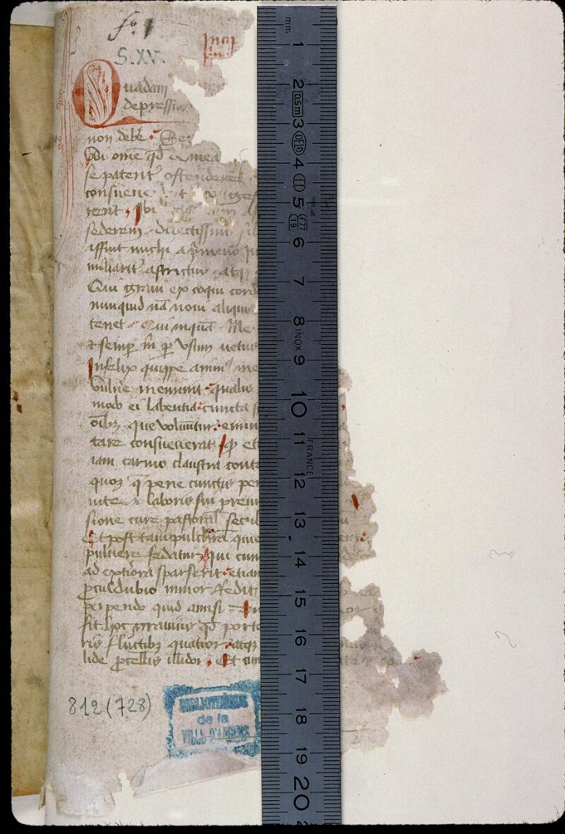 Angers, Bibl. mun., ms. 0812, f. 001 - vue 1
