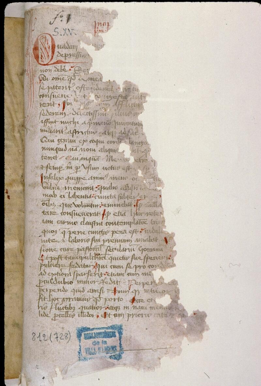 Angers, Bibl. mun., ms. 0812, f. 001 - vue 2