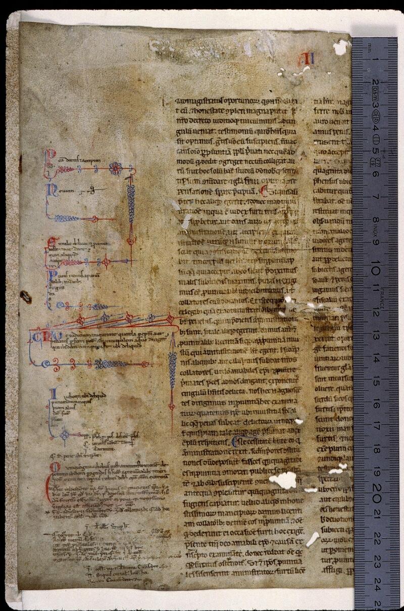 Angers, Bibl. mun., ms. 0813, f. 000A - vue 1