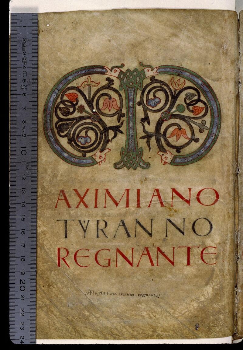Angers, Bibl. mun., ms. 0814, f. 001v - vue 1