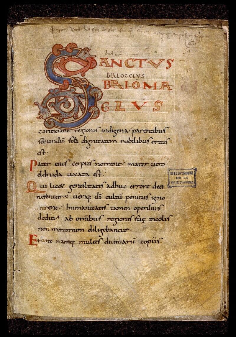 Angers, Bibl. mun., ms. 0814, f. 039 - vue 1