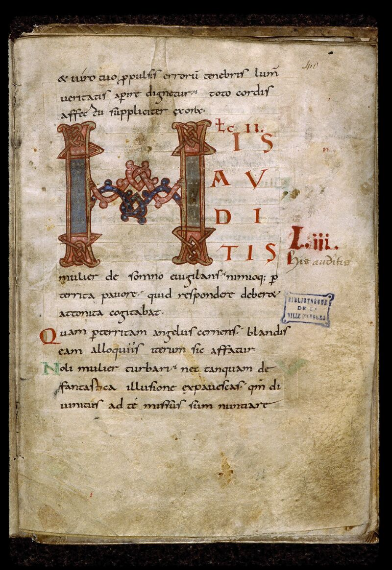 Angers, Bibl. mun., ms. 0814, f. 040 - vue 1