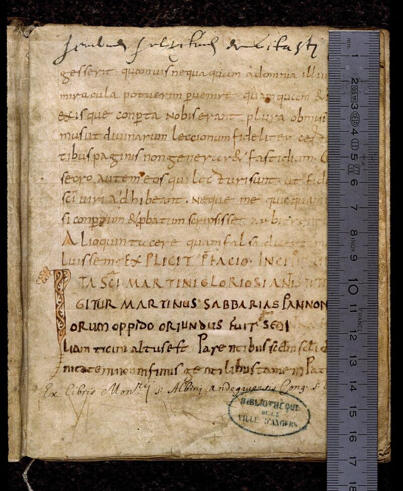 Angers, Bibl. mun., ms. 0815, f. 002 - vue 1
