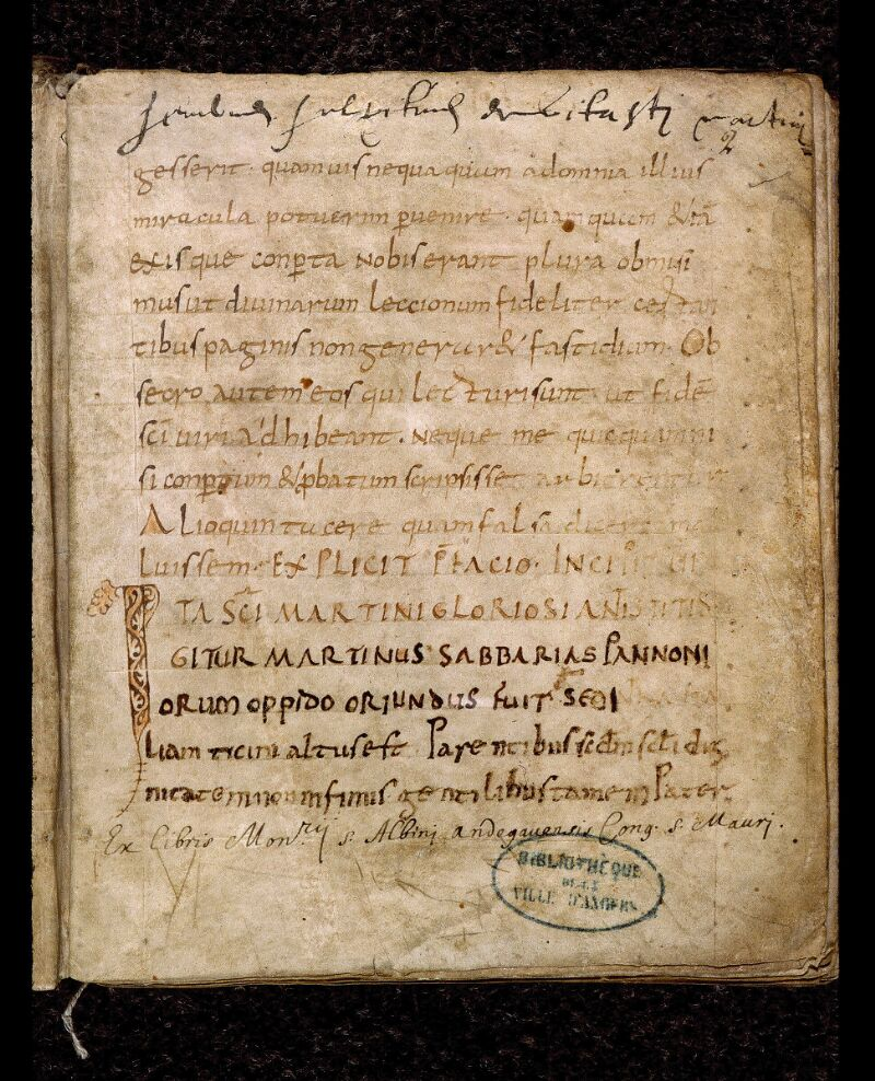 Angers, Bibl. mun., ms. 0815, f. 002 - vue 2