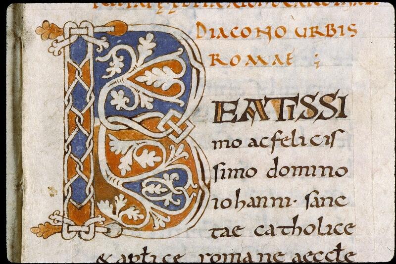 Angers, Bibl. mun., ms. 0819, f. 001 - vue 3