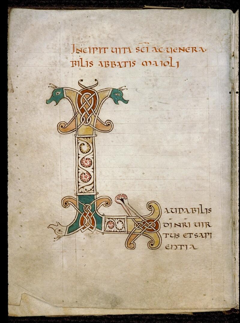 Angers, Bibl. mun., ms. 0820, f. 001v - vue 2