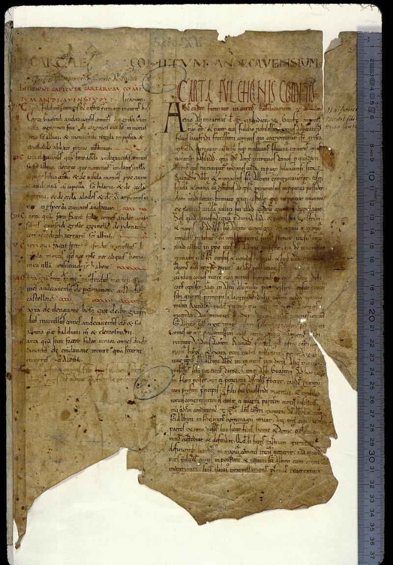 Angers, Bibl. mun., ms. 0829, f. 002 - vue 1