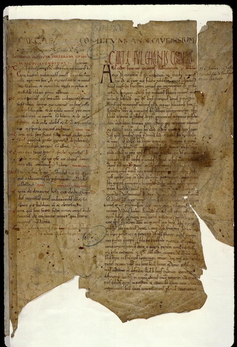 Angers, Bibl. mun., ms. 0829, f. 002 - vue 2