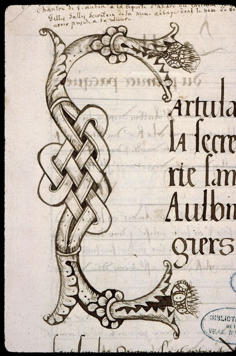 Angers, Bibl. mun., ms. 0832, f. 000I - vue 3