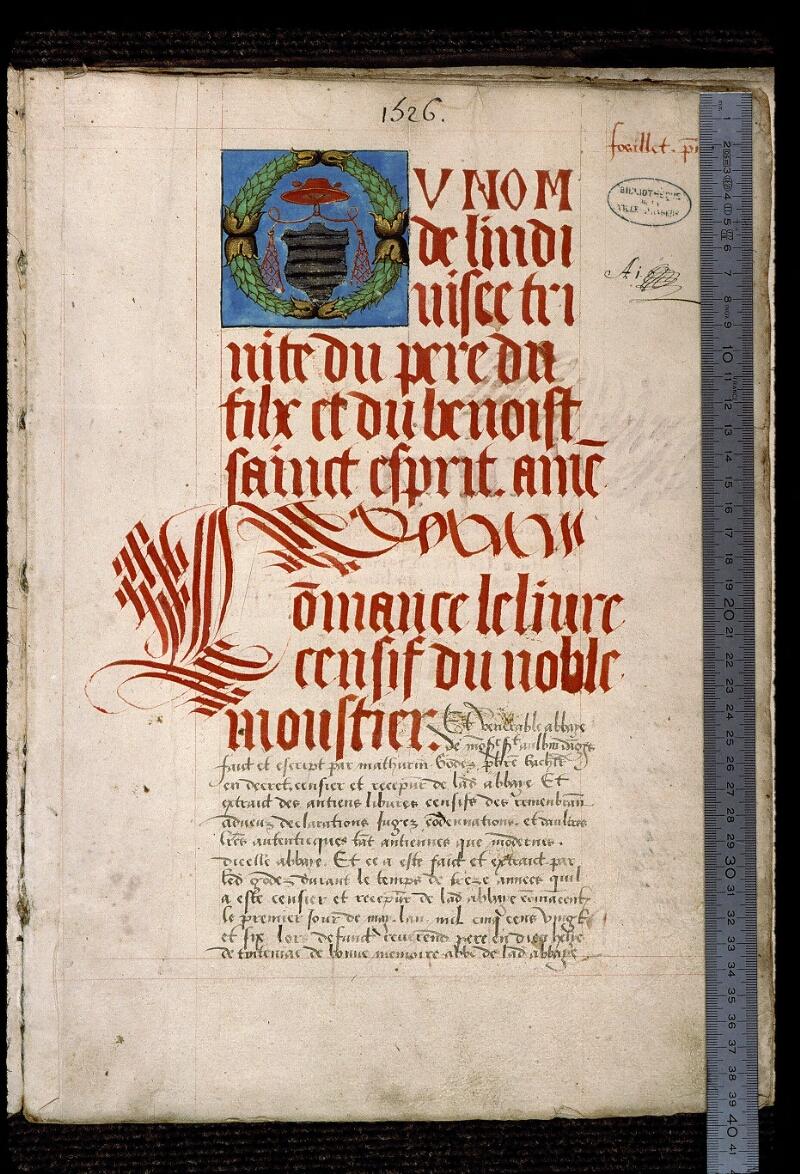 Angers, Bibl. mun., ms. 0833, f. 001 - vue 1