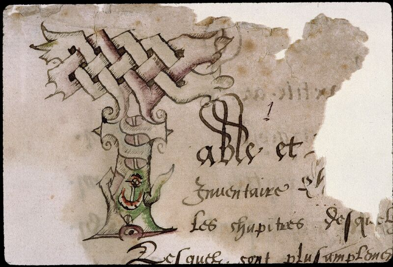 Angers, Bibl. mun., ms. 0851, f. 001 - vue 3