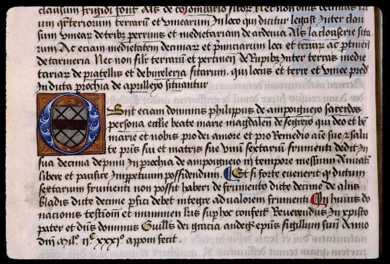Angers, Bibl. mun., ms. 0855, f. 011v - vue 1