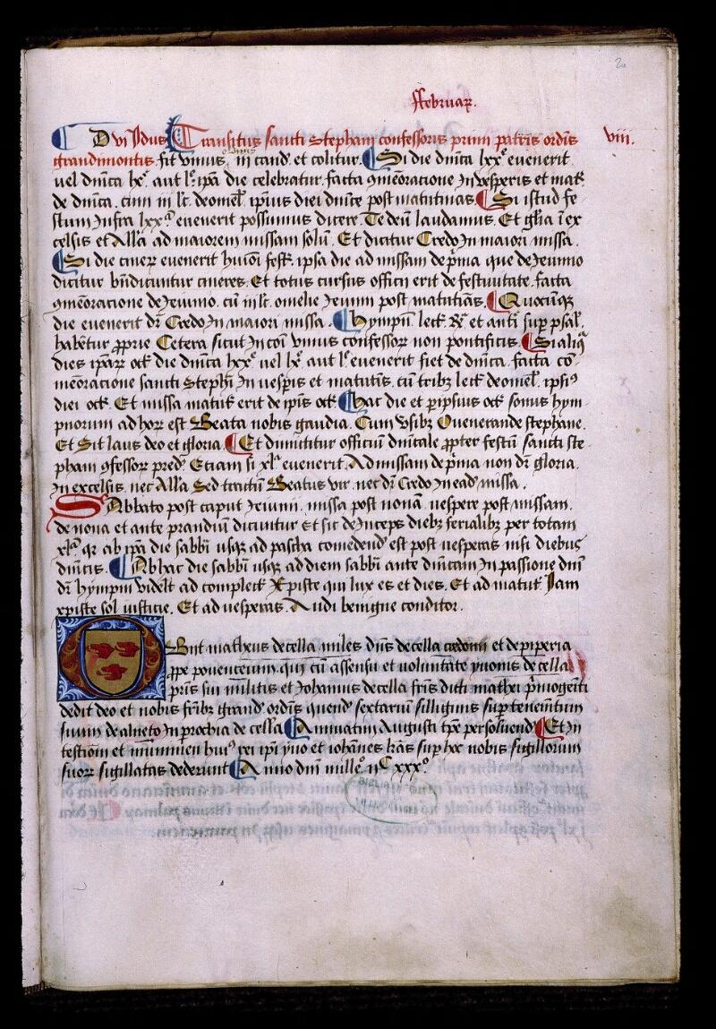 Angers, Bibl. mun., ms. 0855, f. 020 - vue 1