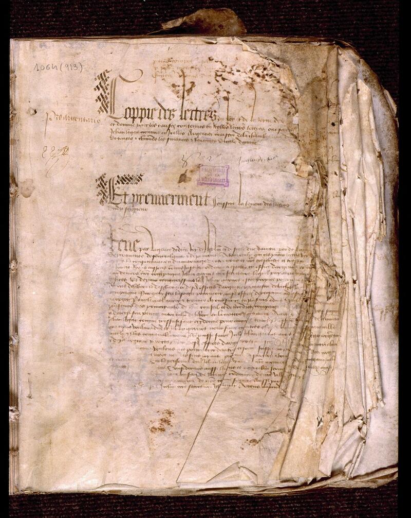 Angers, Bibl. mun., ms. 1064, f. 001 - vue 2