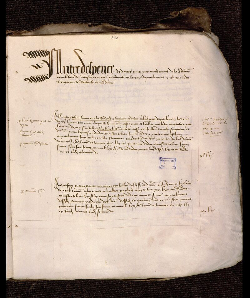 Angers, Bibl. mun., ms. 1064, f. 128