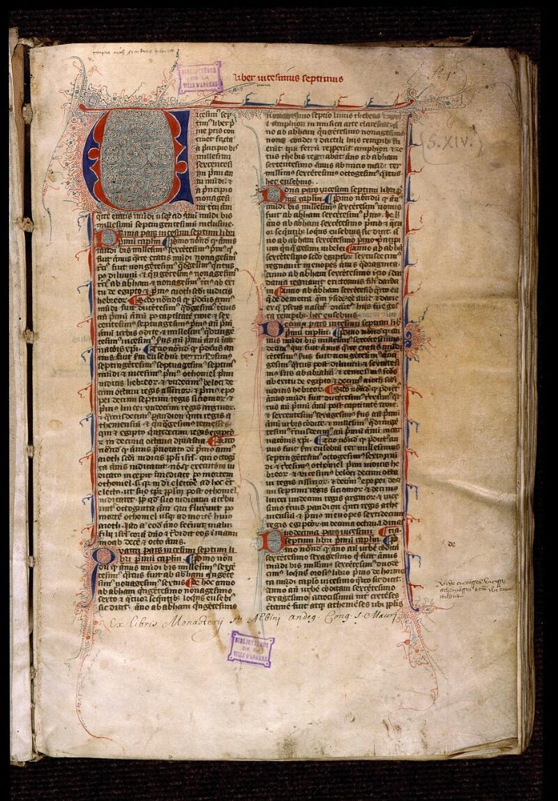 Angers, Bibl. mun., ms. 1372, f. 001 - vue 2