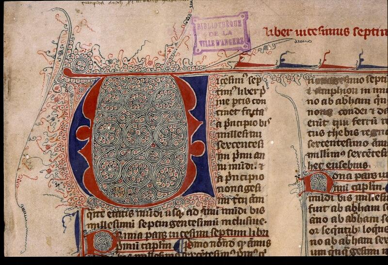 Angers, Bibl. mun., ms. 1372, f. 001 - vue 3